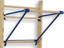 All-In Sport: zum Einhängen in Sprossenwände in beliebiger Höhe, für Zug-, Streck- und Dehnübungen. Verstellbare Konstruktion mit Holzsprosse, ca. 70 c...
