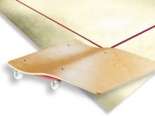 All-In Sport: Ideaal voor bewegen en opbergen van de tapijtrollen. Soepeldraaiend door 4 zwenkwielen. Levering per paar.