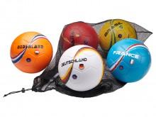 All-In Sport: Landen-ballenset bestaande uit 5 PU-ballen van de landen Duitsland, Frankrijk, Spanje, Brazilië en Nederland.