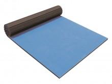 All-In Sport: Die neue Bodenturnmatte Flexiroll®, bestehend aus 6 rollbaren Einzelmatten in der Farbe blau mit den Maßen 1200 x 200 x 4 cm. Durch die i...