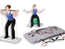 All-In Sport: Die Trainingsstation wurde entworfen, um den Einsatz der Widerstandsprodukte im Krafttraining mit dem Einsatz von Gymnastikbällen, Fitnes...