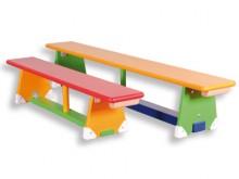 All-In Sport: Van massief hout, 24 cm breed, 31 cm hoog. De zijkanten van de evenwichts-/balanceerbalk zijn afgerond. Houten strip aan één uiteinde van...