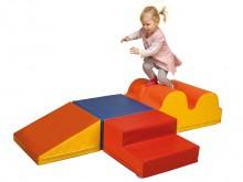 All-In Sport: <p>Set bestaande uit:</p> <ul> <li>1 grote golfmat 72 x 48 cm, geel/oranje,</li> <li>1 rechthoek 24 x 48 x 48 cm, blauw/lichtblauw,</l...