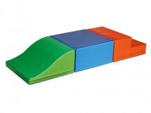 All-In Sport: <p>Set bestaande uit:</p> <ul> <li>1 golfwig 48 x 48 x 24 / 4 cm, groen/lichtgroen</li> <li>1 rechthoek 24 x 48 x 48 cm, blauw/lichtbl...