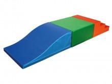 All-In Sport: <p>Set bestaande uit:</p> <ul> <li>1 golfwig 90 x 60 x 30 / 6 cm, blauw/lichtblauw</li> <li>1 rechthoek 60 x 60 x 30 cm, groen/lichtgr...
