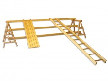 All-In Sport: Een universeel gymnastiektoestel, veelzijdig inzetbaar als brug, rek, evenwichtsbalk, horizontale ladder, schuin oppervlak, brug met onge...