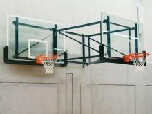 All-In Sport: Zijwaarts zwenkbaar en in hoogte verstelbaar, excl. bord, ring en net, excl. bedieningsstang.