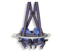 All-In Sport: Stabil genähter Gürtel mit Bein- und Brustgurten montiert im kugelgelagerten, drehbaren Alu-Ring. Robuste Verarbeitung.