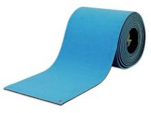 All-In Sport: 25 mm stark, mit hochwertigem Nadelvliesvelour.<br />Länge 25m, Breite 1m. Farbe: spiethblau.