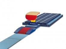 All-In Sport: ORIGINAL REUTHER. Bestehend aus: 1 Anlaufbahn (100 cm breit, 25mm stark) aus Spezialschaumstoffmaterial mit Absprungbohle für das Sprungb...