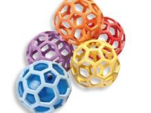 All-In Sport: Leuke speel- en leerbal voor binnen en buiten. Werpen, vangen, rollen, indrukken, etc. is allemaal mogelijk met deze nieuwe Rubberflex ba...