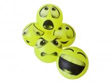 All-In Sport: Set van 5 vrolijk gekleurde en expressieve Emoticon-ballen met Ø 21 cm en ca. 110 gram gewicht per bal. Set wordt onopgepompt geleverd.
