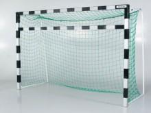 All-In Sport: für Handballtor aus Alu-Profil 8 x 8 cm, eloxiert, mit Befestigungsmaterial. Stabile Verbindung von Pfosten und Zusatzlatte durch Laschen...