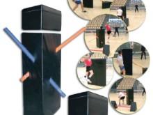 All-In Sport: Der ideale Trainingspartner für Handball-Torwürfe mit blockendem Gegner. Der Trainings-Dummy simuliert einen Gegner mit ausgestreckten Ar...