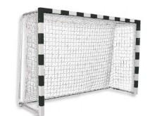 All-In Sport: Zaalhandbaldoel 3 x 2 meter, totale doeldiepte 125 cm. Met 4 vloer-bevestigingspunten. De netbeugels kunnen zowel inklapbaar of als vaste...