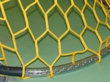 All-In Sport: voor beach-, outdoor- en handbaldoelnetten (ca. 800 g/m), kunststof ommanteld, lengte 5 meter, voor doeldiepte onder 100 cm, aan beide ui...