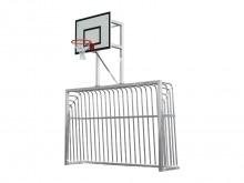 All-In Sport: Afm. 3 x 2 meter, met basketbalbord 120 x 90 cm. Uiterst robuust en vandalismebestendig. Daardoor ideaal voor openbare accommodaties. Voo...