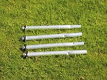 All-In Sport: Voor veilige bevestiging van een trapdoel van staal is een set met 4 grondankers vereist.
