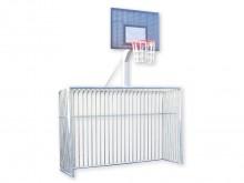 All-In Sport: Opschroefbaar basketbal-opzetstuk voor het Trapdoel van staal. Met massieve basketbalpaal, roosterbord van vuurverzinkt staal, 120 x 90 c...