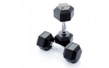 All-In Sport: <p>Hexagonale Dumbbellset 12.5 - 20 kg.</p> <p></p> <p>12,5 - 20 kg: 4 paar hexa dumbbells (stapgrootte van 2,5 kg) Hexa dumbbell...