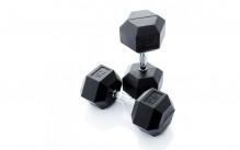 All-In Sport: <p>Hexagonale Dumbbellset 22.5 - 30 kg.</p> <p>4 paar hexa dumbbells (stapgrootte van 2,5 kg)</p> <p></p> <p>Hexa dumbbell...