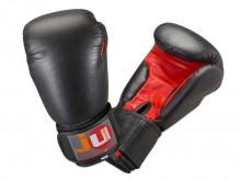 All-In Sport: Klassieke bokshandschoenen van echt rundleer. De Bokshandschoenen zijn uitgevoerd met een comfortabele, rondomlopende klittenbandsluiting...