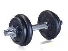 All-In Sport: In de fitness- en krachttraining absoluut onontbeerlijk: Korte haltersets met een totaal gewicht van 10 kg, 12,5 kg, 15 kg, 17,5 kg of 20...