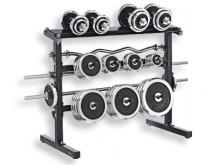 All-In Sport: Het Kettler® halter- en schijvenrek biedt een ruime opbergmogelijkheid voor schijven en stangen die voor een haltertraining nodig zijn. -...
