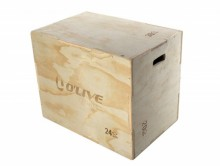 All-In Sport: Plyobox van hout met 3 verschillende hoogtes in één; 50, 60 en 75 cm. De Plyobox hoeft daarvoor alleen maar voor omgedraaid te worden. Wa...