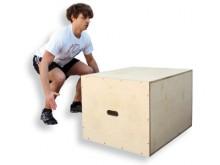 All-In Sport: Drie verschillende spronghoogtes in één box Stabiele houten constructie, die zich tegen elkaar stabiliseert Elke zijde van de box kan als...