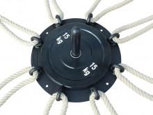 All-In Sport: Bevestigingsmogelijkheid voor max. 8 touwen (max. 48 mm Ø). In gewenst kan het platform extra met gewichtsschijven, boring 50 mm, verzwaa...