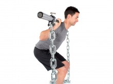 All-In Sport: Voor progressieve lange haltertraining. Het gewicht neemt tijdens het gewichtheffen toe. 2 kettingen van verzinkt staal, elk 150 cm lang,...