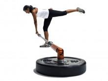 All-In Sport: Mit einem Core- oder Rotations-Trainer, einer Olympic-Langhantelstange und einigen Gewichtsscheiben (50 mm-Bohrung) kann auf engstem Raum...