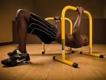 All-In Sport: Training met het eigen lichaamsgewicht. Voor dips, ligsteunen, roeien of voor stretching. Lichte, stabiele steunen, 70 cm hoog, kleur gee...