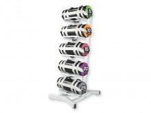 All-In Sport: Opbergrek van staal voor 5 Functional Bags. Kleur grijs. Afm. (LxBxH) 70 x 67 x 150 cm.