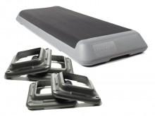 All-In Sport: Professional Aerobic Step met zeer groot werkoppervlak. Anti-slip oppervlak van geribbeld rubber. De stabiele step heeft een aangenaam ve...