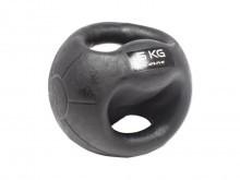 All-In Sport: functionele Medizinbal van rubber met stroeve, slijtvaste oppervlaktestructuur. De combinatie tussen Medizinbal, halter en Kettlebell maa...