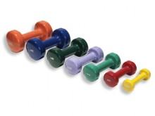 All-In Sport: Voor gymnastiek, aerobic, en fitnesstraining. Van gietijzer met gekleurde vinyl-coating. De gladde oppervlakken verhinderen de opname met...