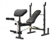 All-In Sport: Veelzijdige trainingsbank met lange haltersteunen, beentrainingsstation en biceps-curlpult. Het krachtstation beschikt over een ergonomis...