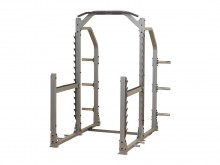 All-In Sport: Profi-rack van solide, epoxy gelakte staalconstructie met brede toegang en 450 kg belastbaarheid. Incl. in hoogte verstelbare safety-steu...