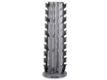 All-In Sport: Platzsparender Ständer für 20 Kurzhanteln (1-10 kg). Maße (HxBxT) 141 x  50 x 39 cm.