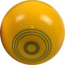 All-In Sport: Losse Koersbal in de kleuren zwart, lichtblauw en geel.