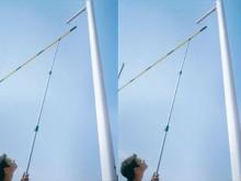 All-In Sport: für Stabhochsprunglatten, aus Alu, ausziehbar von 1,50 m - 4 m.