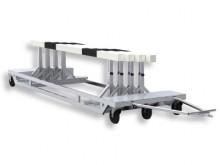 All-In Sport: Voor een complete set (3 stuks 396 cm lang, 1 stuks 500 cm lang), stalen constructie met luchtbanden, laadoppervlak van sterk aluminium s...