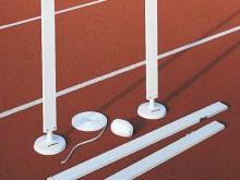 All-In Sport: für den Zieleinlauf.<br /><br />Die Zielwolle wird zwischen zwei Säulen/Ständern aufgespannt und markiert damit das Ziel.
