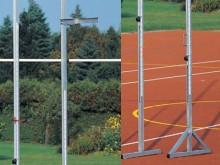 All-In Sport: voor polsstokhoogspringen, van aluminium, telescopisch uittrekbaar, met waterpas, meetbereik 2,4 – 6,5 meter.
