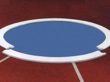 All-In Sport: Einlegesegmente aus GFK, voll ausgeschäumt, 4-teilig. Die Segmente werden einfach in den Diskusring (D = 2,5m) eingelegt und verankern si...