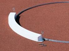 All-In Sport: aus GFK (glasfaserverstärkter Kunststoff), ausgeschäumt, mit Befestigungslaschen und verzinkten Befestigungsnägeln für Ascheboden, 122 cm...