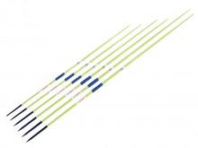 All-In Sport:  Van aluminium, speerpunten van staal. Ideaal voor starters eb=n gevorderden, voor trainingsdoeleinden op scholen en bij verenigingen.