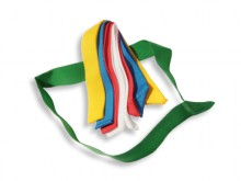 All-In Sport: 5 cm brede PE-band, hygiënisch, onderhoudsvrij, slijtvast. Standaard lengte ca. 60 cm lang.